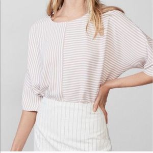 Express Pink Striped Top Size Medium